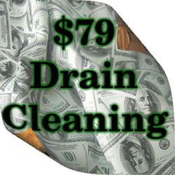 No more expensive rootering of your main drain. Our main drain cleaning plumbers can clear your main drain clog for a bargain